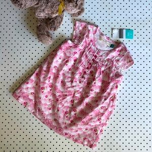 Girls size 2 YOUNG HEARTS pink floral dress
